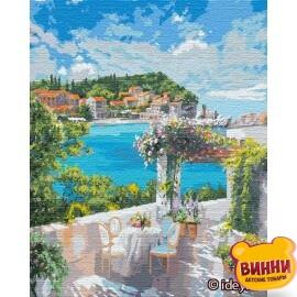 Купити картину за номерами Ідейка Сніданок біля моря ©Ira Volkova, 50*65 см KHO12834
