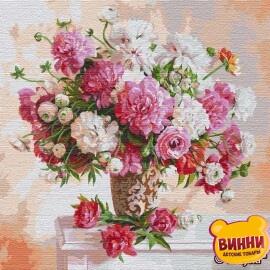 Купити картину за номерами Ідейка Надихаючись півоніями ©Ira Volkova, 50*50 см KHO13117