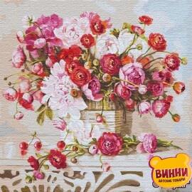 Купить картину по номерам Идейка Букет воспоминаний ©Ira Volkova, 50*50 см KHO13120