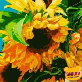 Купить картину по номерам Artissimo Яркие подсолнухи, 40*50 см, PN2012