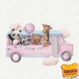 Купить картину по номерам Идейка Веселый автобус, 30*30 см KHO2356
