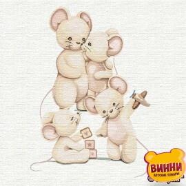 Купити картину за номерами Ідейка Щаслива сім'я, 30*30 см KHO2359