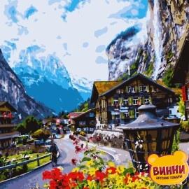 Купить картину по номерам Artissimo Цветущая Швейцария, 40*50 см, PN2708