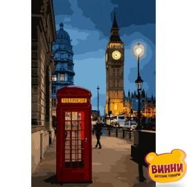 Купити картину за номерами Ідейка Вечірній Лондон 2, 35*50 см KHO3546