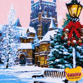 Купить картину по номерам Artissimo Зима в Вестминстере, 40*50 см, PN4343