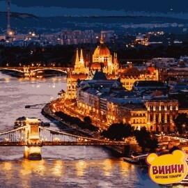 Купить картину по номерам Artissimo Волшебный Будапешт, 40*50 см, PN4370