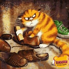 Купити картину за номерами Artissimo Недовольній кіт, 40*50 см, PN5345