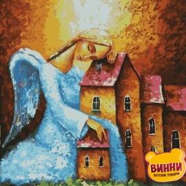 Купить картину по номерам Artissimo Ангел-хранитель, 40*50 см, PN5455