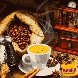 Купить картину по номерам Artissimo Ароматный кофе, 40*50 см, PN5853