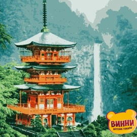 Купить картину по номерам Artissimo Пагода, 40*50 см, PN6210