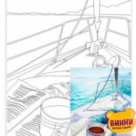 Купить холст с контуром 30*40 см в пленке, ROSA START Морской пейзаж