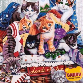 Купить картину по номерам ArtStory AS0614 Котята