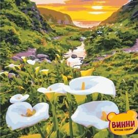 Купить картину по номерам ArtStory AS0867 Цветы в горах, каллы
