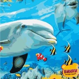 Купить картину по номерам ArtStory AS0868 Улыбка дельфина