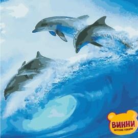 Купить картину по номерам ArtStory AS0871 Стая дельфинов