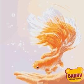 Купить картину по номерам ArtStory AS0887 Золотая рыбка