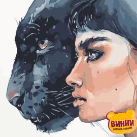 Купить картину по номерам ArtStory AS0893 Девушка и пантера