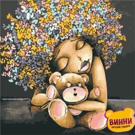 Купить картину по номерам ArtStory AS0933 Девочка с мишкой