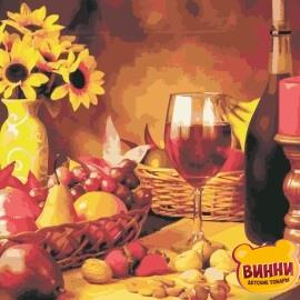 Купить картину по номерам ArtStory AS0965 Вино и фрукты
