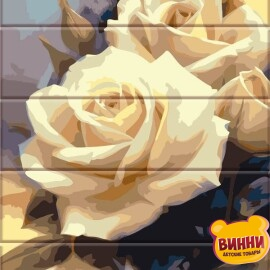 Купити розпис за номерами на дереві ArtStory Пастельні троянди 30*40 см, ASW043