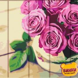 Купити розпис за номерами на дереві ArtStory Пишні троянди 30*40 см, ASW130