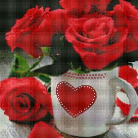 Купить алмазную мозаику ArtStory ASM3 Яркие розы