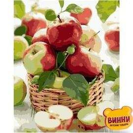 Купити картину за номерами STRATEG Соковиті яблука 40*50 см, VA-0364