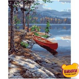 Купити картину за номерами STRATEG Живописний сосновий берег 40*50 см, VA-0370