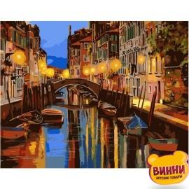 Купити картину за номерами STRATEG Нічний канал Венеції, 40*50 см, VA-0417