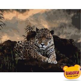 Купити картину за номерами STRATEG Леопард 40*50 см, VA-0447