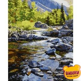 Купити картину за номерами STRATEG Гірська річка, 40*50 см, VA-1453