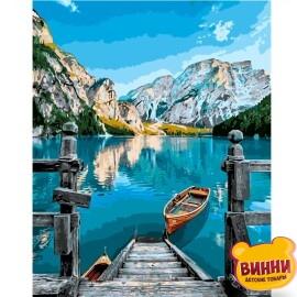 Купити картину за номерами STRATEG Альпійське озеро, 40*50 см, VA-2156