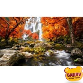 Купить алмазную мозаику Горный водопад 30*40 см, с рамкой, в коробке, H8645