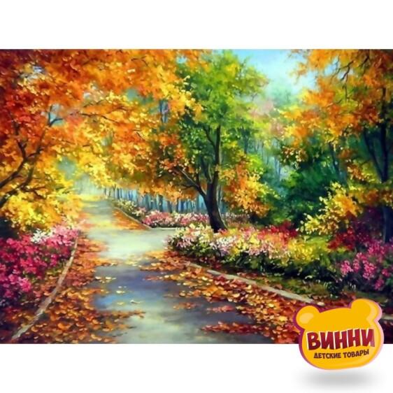 Купить алмазную мозаику Осенний парк, 30*40 см, без подрамника, в коробке, H8677
