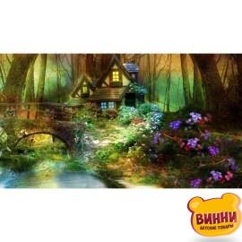 Купить алмазную мозаику Уютный домик в глуши, 30*40 см, без подрамника, в коробке, H8926