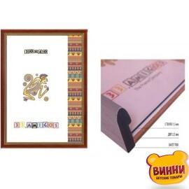 Купити рамку для фото, для картин 30*40 см (15 мм) світле дерево+золото