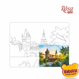 Купить холст с контуром 30*40 см в пленке, ROSA START Прага