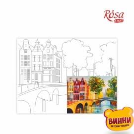 Купить холст с контуром 30*40 см в пленке, ROSA START Амстердам