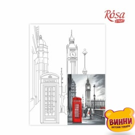 Купить холст с контуром 30*40 см в пленке, ROSA START Лондон