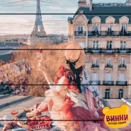 Купити картину за номерами на дереві RainbowArt Краса Парижа 40*50 см, GXT25419