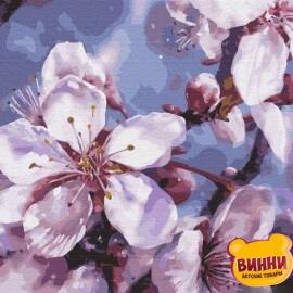 Купити картину за номерами RainbowArt Цвіт вишні, 40*50 см, GX33974