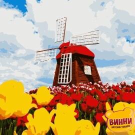 Купити картину за номерами Artissimo Квітуча Голандія 40*50 см, PN4280