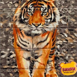 Купити розпис за номерами на дереві ArtStory Тигр 30*40 см, ASW059