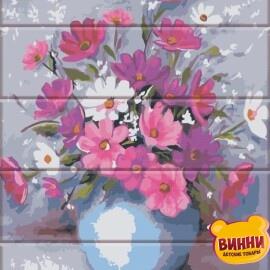 Купити розпис за номерами на дереві ArtStory Ніжні квіти 30*40 см, ASW149