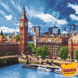 Купити картину за номерами RainbowArt Сонячний Лондон, 40*50 см, GX30493
