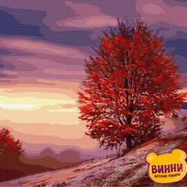 Купити картину за номерами RainbowArt Осіннє дерево на схилі , 40*50 см, GX31205