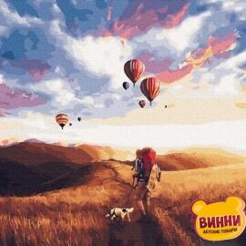 Купити картину за номерами RainbowArt Прогулянка у полі, 40*50 см, GX31971