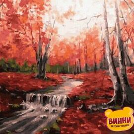 Купити картину за номерами RainbowArt Світанок у лісі, 40*50 см, GX32133