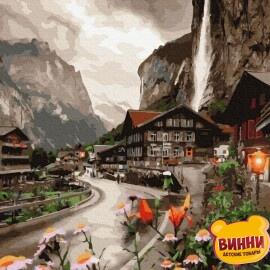 Купити картину за номерами RainbowArt Містечко у Швейцарії, 40*50 см, GX36527