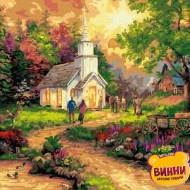 Купити картину за номерами RainbowArt Недільний прихід, 40*50 см, GX36876